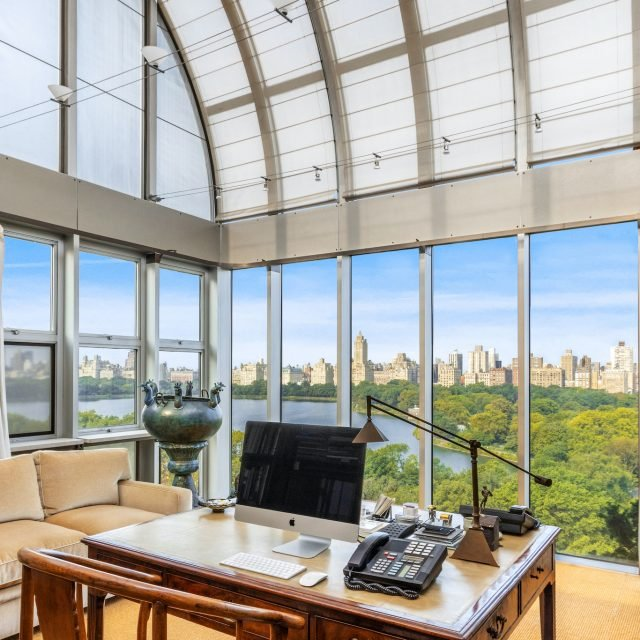 For $15M, this three-story UES penthouse is topped with a glass solarium