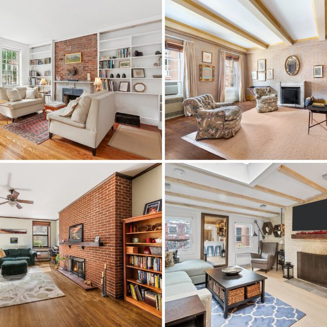 7 NYC apartments with fireplaces for under $1M