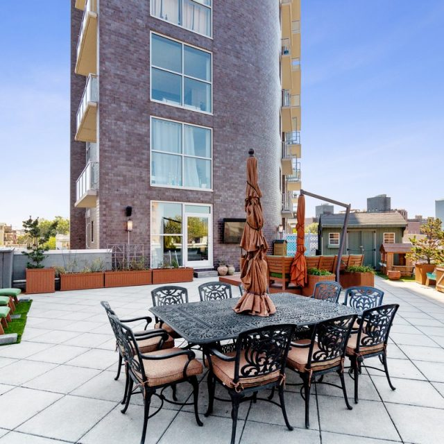 $1.15M Astoria condo has a terrace twice the size of the apartment