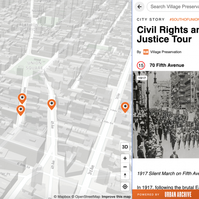 New 'Virtual Village' platform offers 36 free history tours of Union Square South