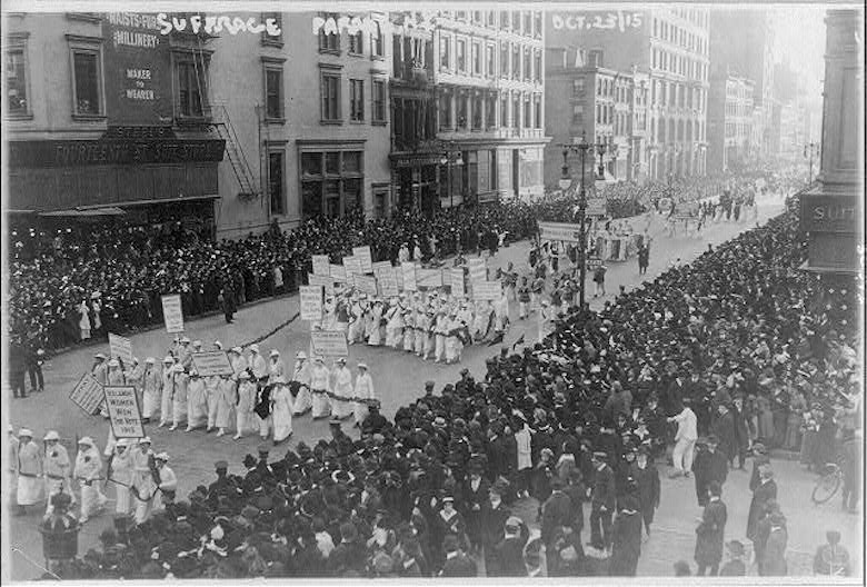 On October 23, 1915, tens of thousands of NYC women marched for the right to vote