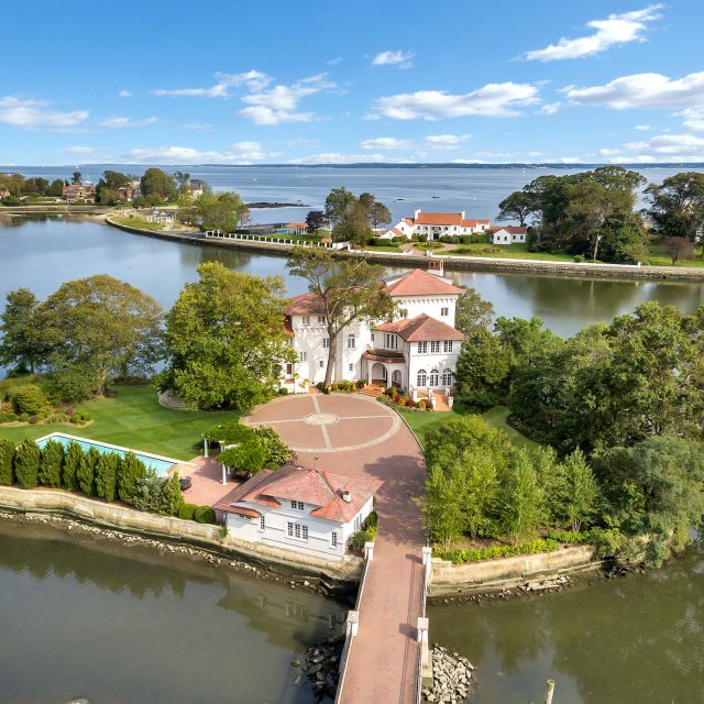 For $4.9M, own a private New York island with a 100-year-old Mediterranean-style mansion