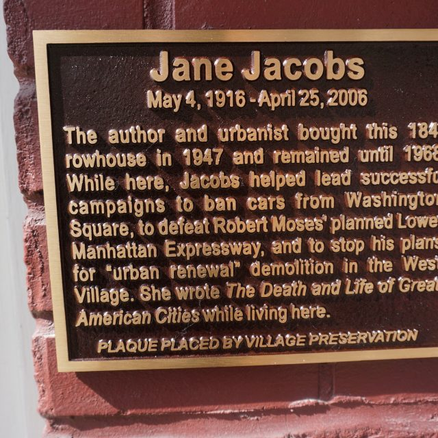 Greenwich Village home of urbanist Jane Jacobs gets historic plaque