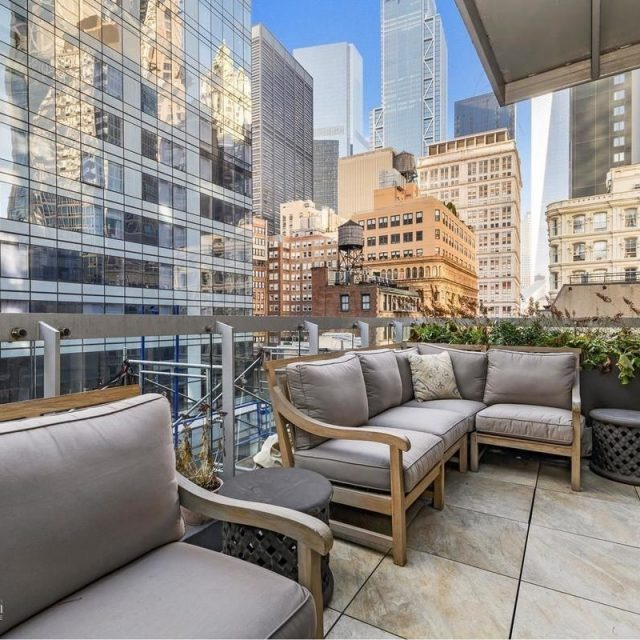 $2.5M full-floor FiDi condo has two outdoor spaces and World Trade Center views