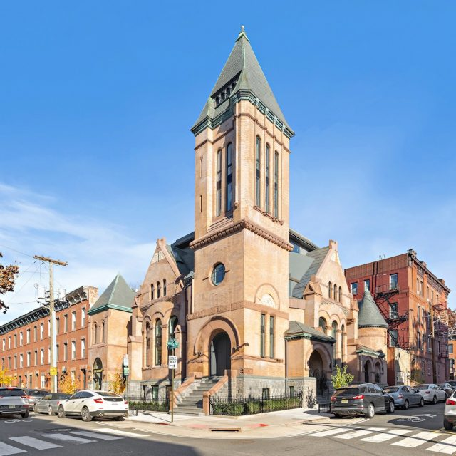 For $3M, a historic Hoboken church apartment with a studio loft in the original bell tower