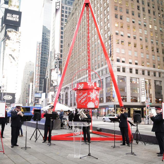 The Salvation Army unveils giant red kettle in NYC as need for support services remains high