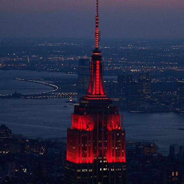 Empire State Building's heartbeat light show returns for nationwide COVID-19 memorial