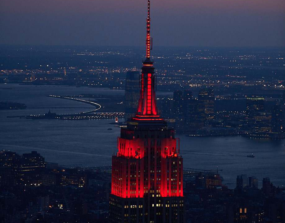 Empire State Building's heartbeat light show returns for nationwide COVID-19  memorial | 6sqft