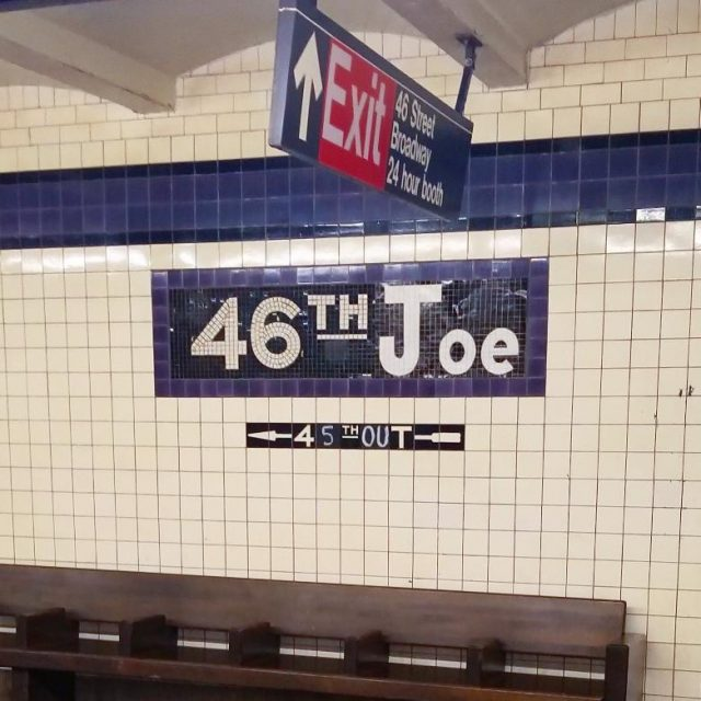 46th Street subway station turned into Joe Biden tribute