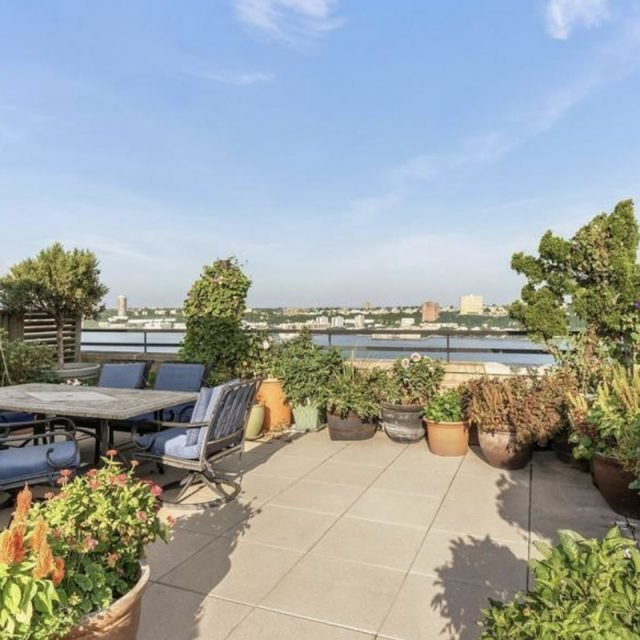 Lovely alcove studio in Morningside Heights has a 600-square-foot terrace for $650K
