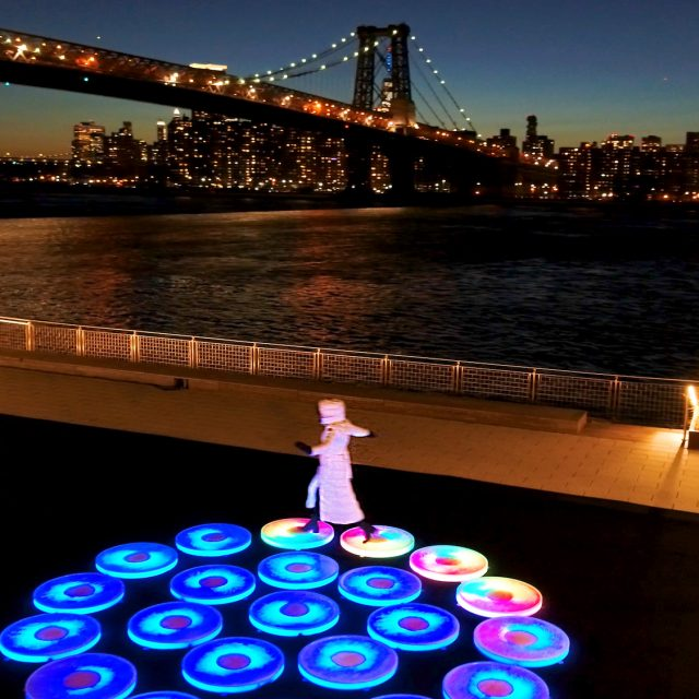 Domino Park unveils interactive art display that lights up when stepped on