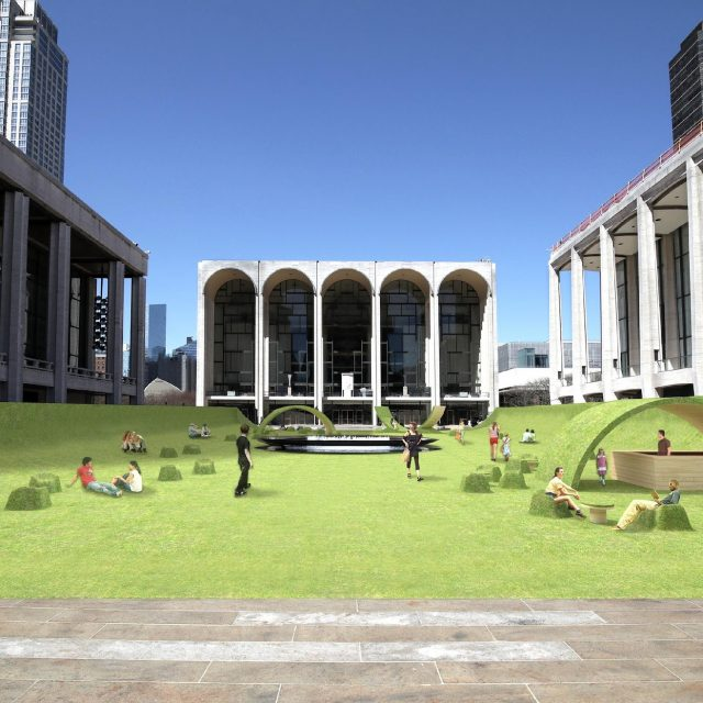 Lincoln Center's famous plaza will become a massive public lawn