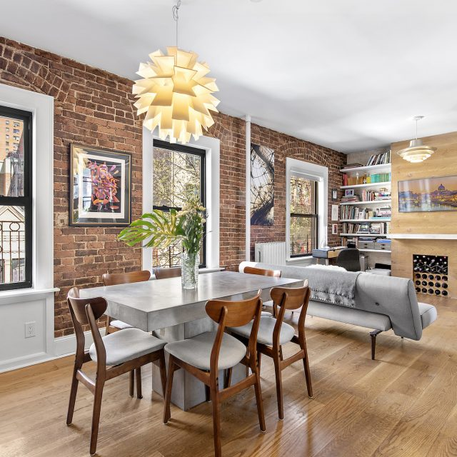 Exposed brick and contemporary flair collide in this $1M Upper West Side two-bedroom
