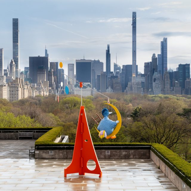 The Met's latest rooftop installation features a swaying Big Bird overlooking Central Park