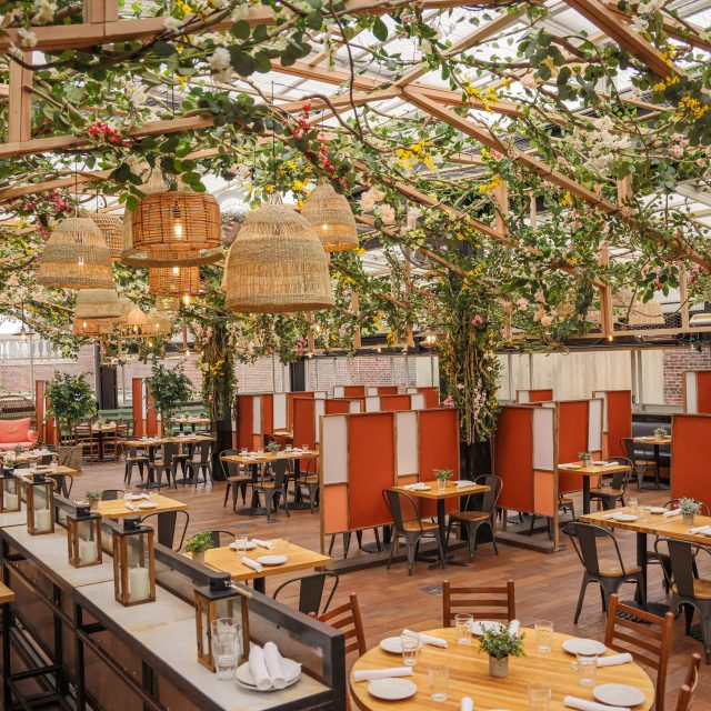 Eataly's rooftop restaurant is now a blooming greenhouse