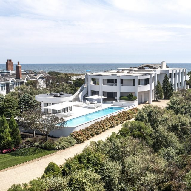 Catch some cool Miami vibes at this beachfront mansion in Quogue, asking $19.8M