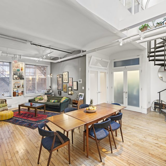 This $2.2M Union Square loft has funky interiors and a cool, industrial roof deck