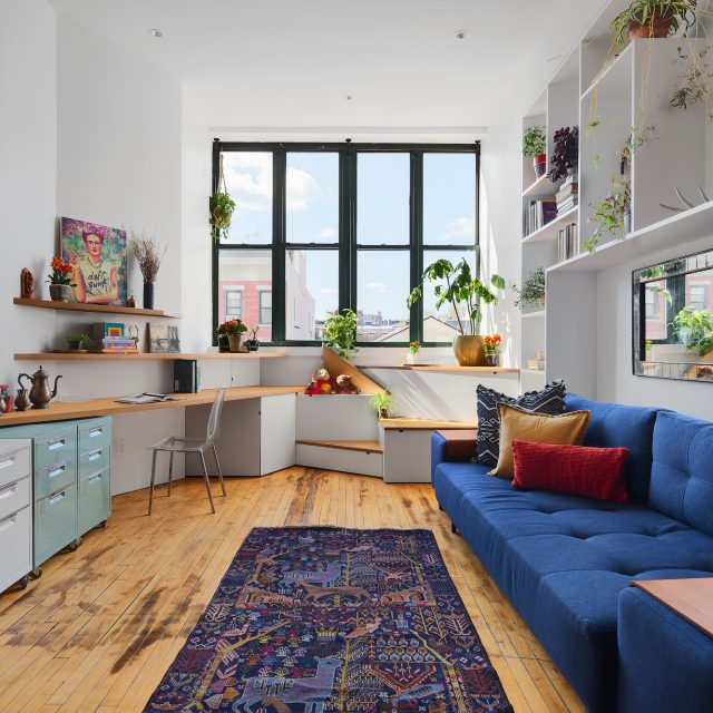Asking $1.15M, this creative Bed-Stuy loft is located in a converted 1930s box factory