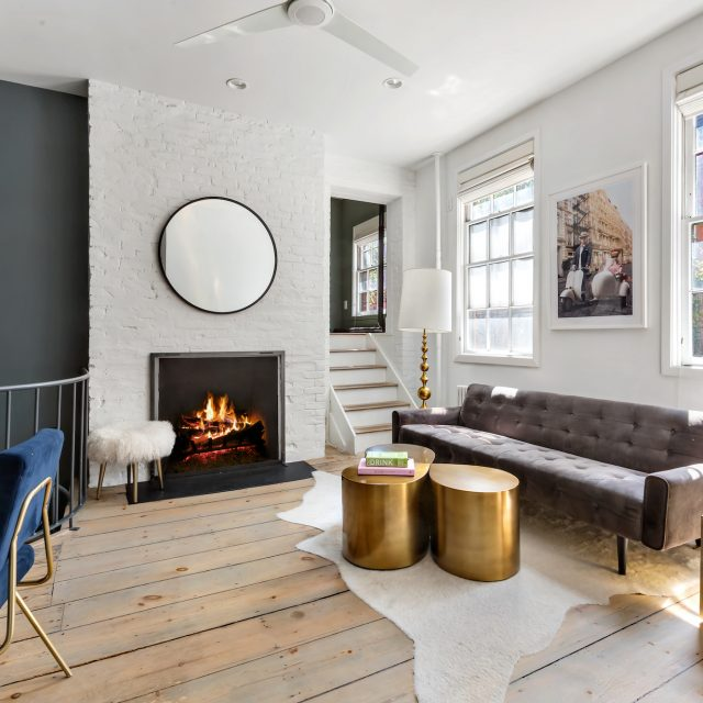 Modern glamour comes to a historic Hudson Square townhouse for $1.35M