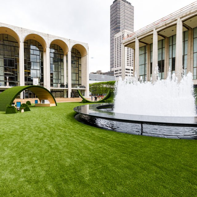 See the massive public lawn that has taken over Lincoln Center's famous plaza