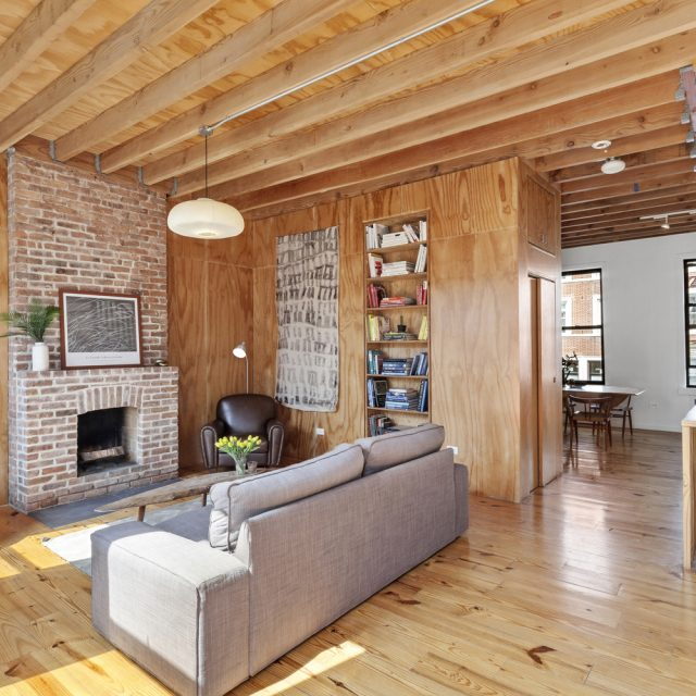 Just off Greenwood Cemetery, this modern and bright townhouse is asking $2.15M