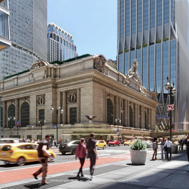 New renderings revealed for the 1,646-foot tower that may rise next to Grand Central