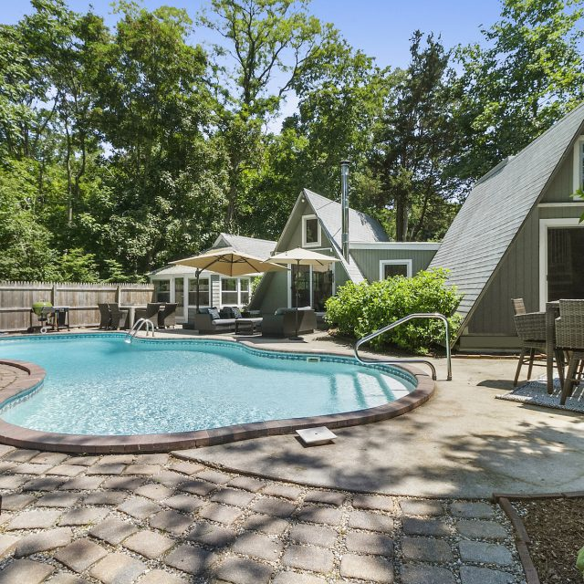 This three-bedroom A-frame house in Sag Harbor can be yours for $1.35M
