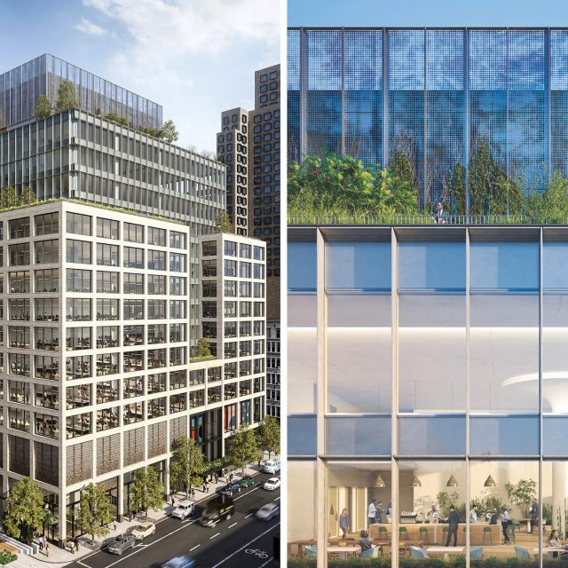 16-story sustainable office tower 555 Greenwich breaks ground in Hudson Square