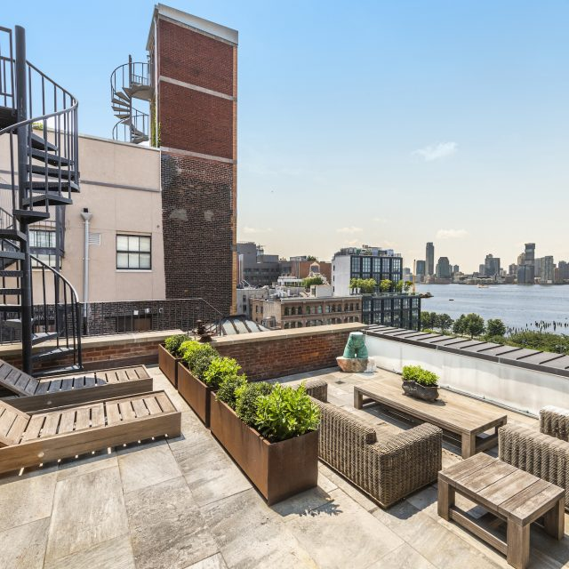 Get amazing Hudson River views from every room at this $3.9M Hudson Square penthouse