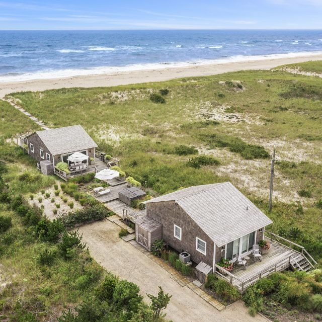 For $5.75M, own two Hamptons beach cottages with private beach access