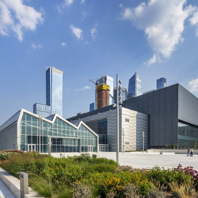 New rooftop terrace with glass pavilion and one-acre farm opens at the Javits Center