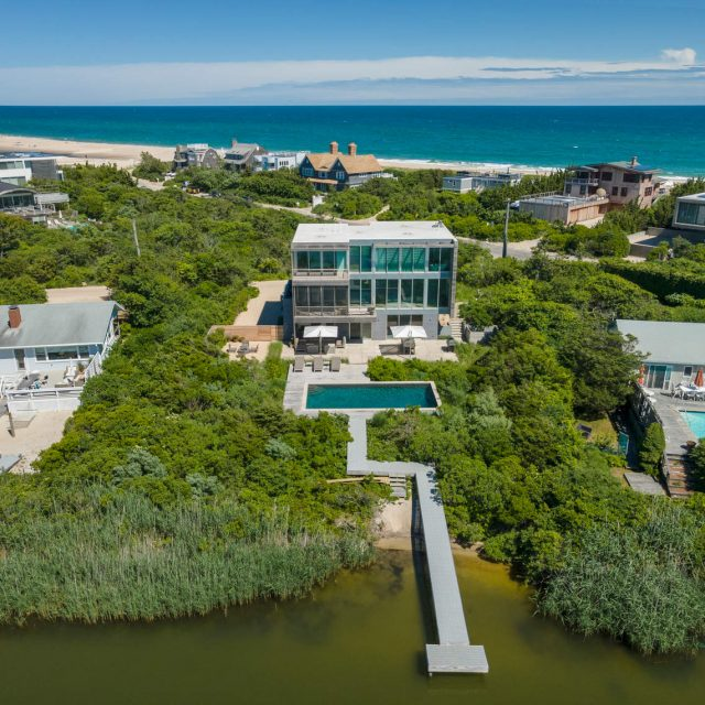 Asking $19.5M, this modern marvel in Water Mill was designed by a local Hamptons architect