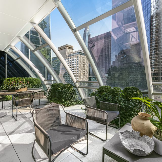 Asking $4.2M, this Billionaires' Row condo is one of only two One57 units with a private balcony