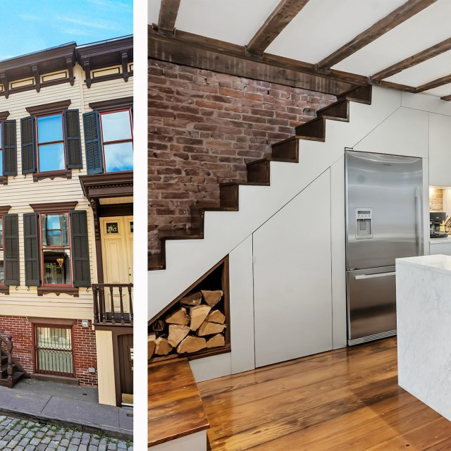 On Washington Heights' hidden Sylvan Terrace, a modernized wooden rowhouse asks $1.8M