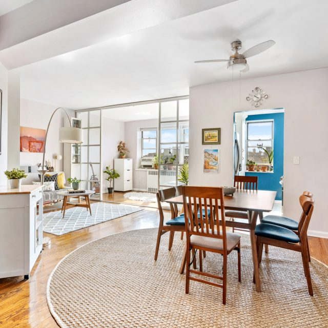 Asking $475K, this Jackson Heights co-op is cheerful, flexible, and convenient to outdoor space