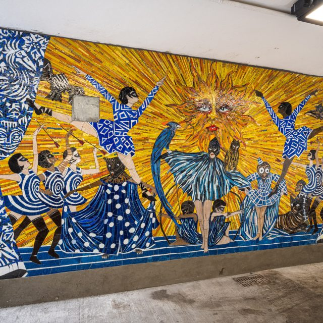 MTA unveils colorful new subway mosaics at Bedford and 1st Avenue L train stations