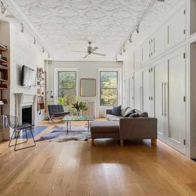 This $1.57M East Village loft has original tin ceilings and Tompkins Square Park views