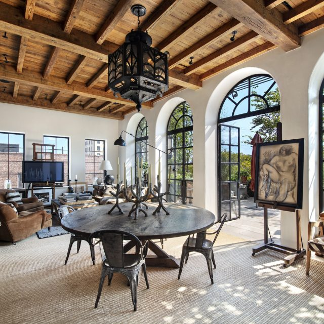 $7.95M penthouse overlooking St. Marks Church has a Spanish Mission feel atop the East Village