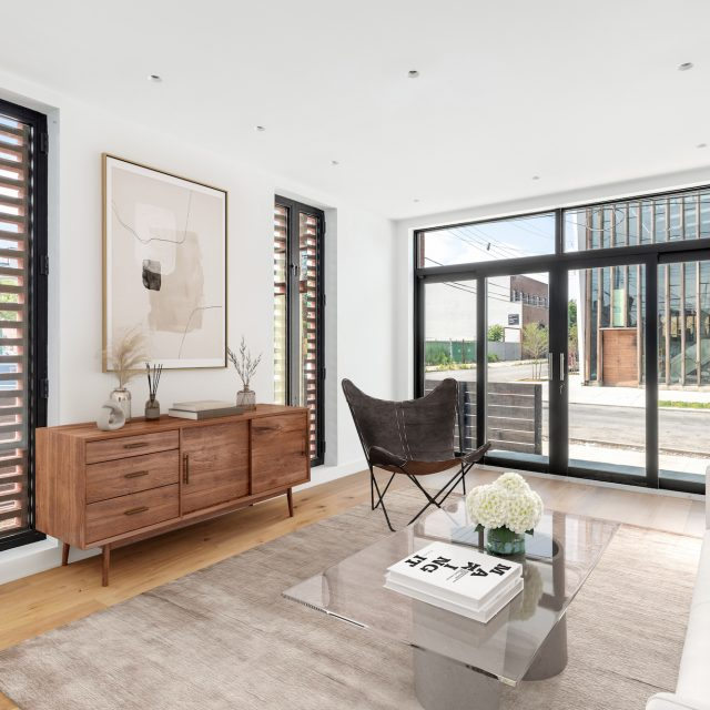 Waterfront views and a private green rooftop add to the luxury of this $3.75M Red Hook townhouse