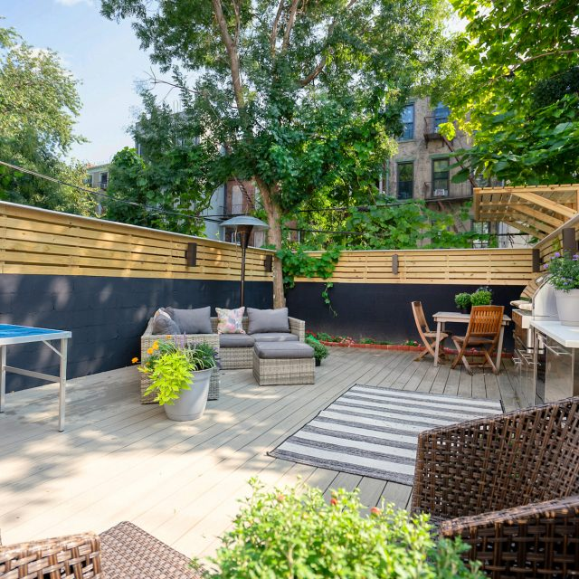 For $1.3M, this bright Bed-Stuy garden duplex has a dreamy back yard with an outdoor kitchen