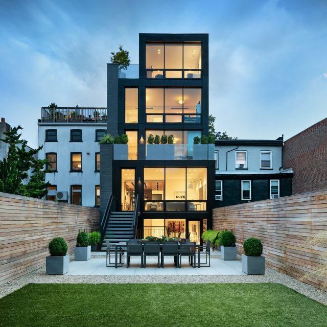 Take the elevator to a rooftop hot tub at this $12.5M designer townhouse in Cobble Hill