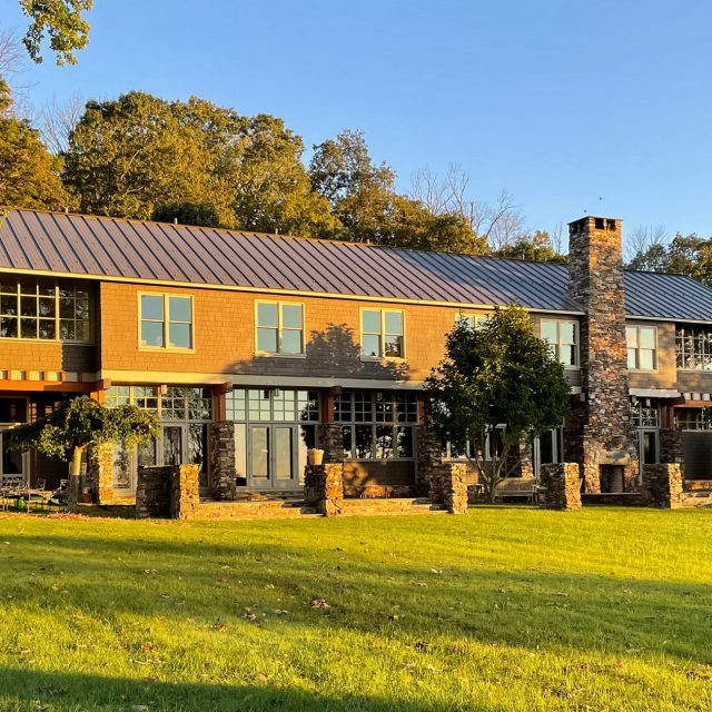 This James Cutler-designed $3.5M converted barn on 76 acres in Central Jersey was an author's refuge