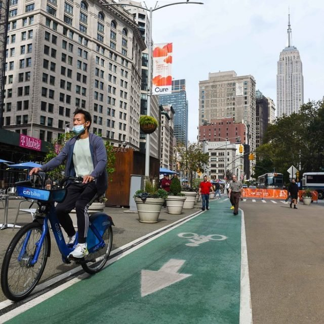 Six blocks of Broadway will become Manhattan's largest shared street as part of open space plan