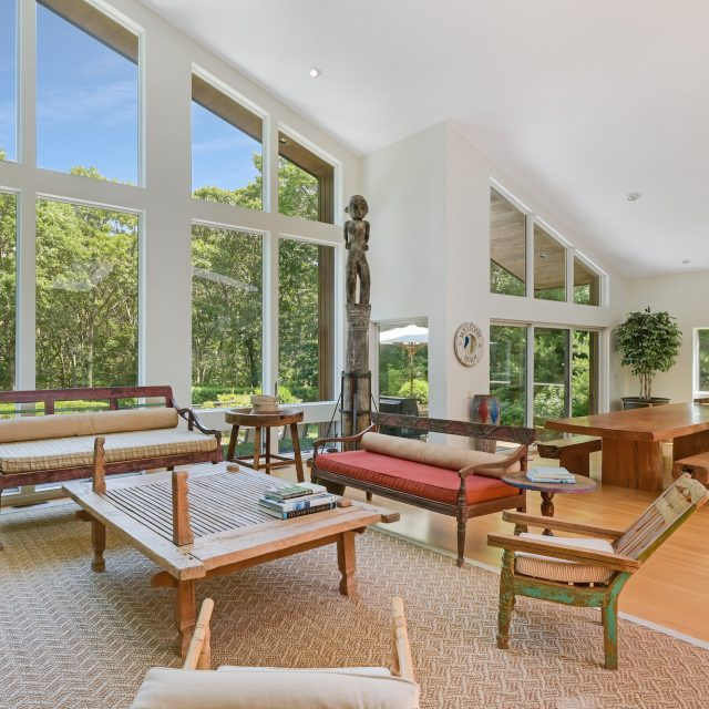 Tucked away in the woods of East Hampton, $3.5M modern home has an art studio and heated pool